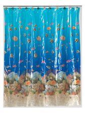 "Carnation Home Fashions ""Sealife"" 5 gauge vinyl print shower curtain, size 72..."