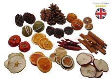 60+ Piece - Mixed Dried Fruit Chillies Orange Slices Wreath Cinnamon XMAS UK