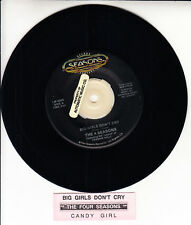 "THE FOUR SEASONS  Big Girls Don't Cry & Candy Girl 7"" 45 record + juke box strip"