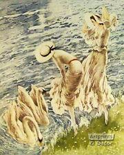 The Swans by Louis Icart (: Art Print of Vintage Art :)