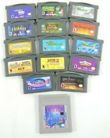 Nintendo Game Boy Advance 15 Game Lot Tetris, Gumby and Harry Potter all tested