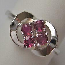 WoW ✯ Designer Ring in aus 585 Gold mit Rubin Rubine Ruby Edelsteine Emerald 55