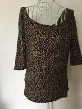 maurie and eve Leopard print off shoulder top sz 0 XS