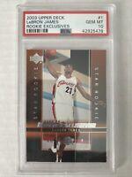 Lebron James RC Cavaliers 2003-04 Upper Deck Rookie Exclusives PSA 10 GEM MINT📈