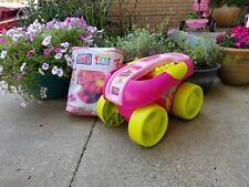 Lot of 2: Mega Bloks Wagon & 80ct Bloks, Pink, Vintage, Collectible