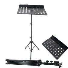 Adjust Folding Stage Music Conductor Stand Metal Sheet Tripod Holder
