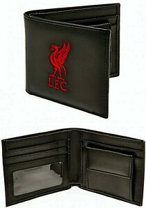 LIVERPOOL FC LFC CREST EMBROIDERED LEATHER MONEY WALLET COIN CASH CARD PURSE
