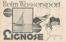 Y4948 Rollfilm und Filmpack LIGNOSE - Pubblicità d'epoca - 1927 Old advertising