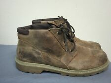 CATERPILLAR CAT MEN TAN LEATHER  SOFT-TOE WORK BOOT  SIZE US 11.5 EUR 44.5