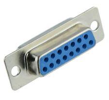 2 x 15-Way D Sub Connector Female Socket Solder Lug