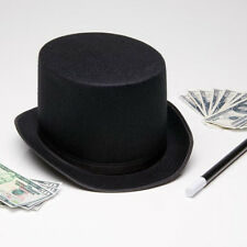 0b1e131904f Black Tall Top Hat Halloween Steampunk Magician Mad Hatter Ringmaster  Costume
