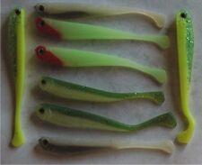 8 leurres souples 4 couleurs pêche perche black bass truite 8cm