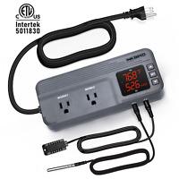 Inkbird Digital Thermostat Temp humdity controller ITC-608 AC 1800W Time Brew US