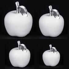 Deko Apfel Keramik Weiß 8,5/11/14/17cm Objekt Dekoapfel Figur Obst TOP !!!