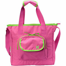 "Hurley ""Honor Roll"" Messenger Purse Laptop Gym Bag *NWT* Pink Green MSRP $50"
