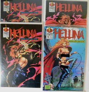 Lot of (9) HELLINA Comics LIGHTNING COMICS