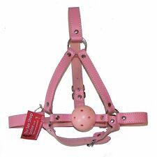 TheSexShopOnline - Bondage Pink Ball Gag Head Harness Restraint