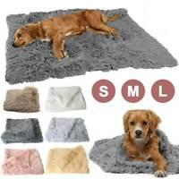 Puppy Blanket Pet Soft Fluffy Mattress Cosy Dog Cat Bed Sleep Mats Plain Kennel