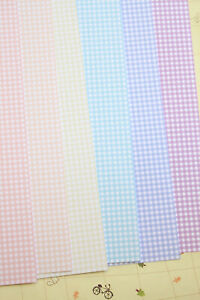 Small Gingham Cardstock 250gsm colorful check card stock wedding craft postcards