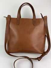 $148 MADEWELL Zip Top Transport Leather Crossbody Bag in English Saddle