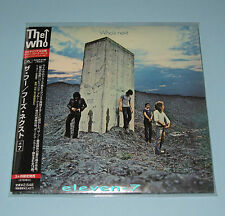 THE WHO Who's Next Japan mini LP CD +7 POCP-9199 1st issue Target OBI +Index
