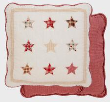Clayre & Eef Kissenhülle Kissenbezug gequiltet Baumwolle 50 x 50 cm