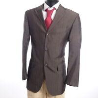 HUGO BOSS Sakko Jacket Connery Gr.50 grau Nadelstreifen 3-Knopf Baumwolle -S929