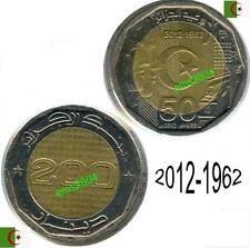 ALGERIE, ALGERIA, ALGERIEN, ARGELIA 200 DINARS / 50 ans d'indép 2012/1962 sup