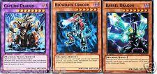 Gatling Dragon FUSION 3-CARD SET: Blowback Dragon, Barrel Dragon mint Yugioh