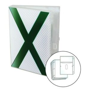 Xbox Video Game Case, Stores 10 Discs and Graphic Books - White