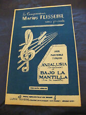 Spartito Andalusia Bajo la Mantiglia di Marius Teisseire Paso dobles