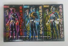 Masked Kamen Rider Hibiki Ibuki Todoroki Set of 3 Action Figures 2005 BANDAI New