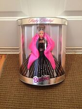 1998 MATTEL BARBIE DOLL HAPPY HOLIDAYS BLACK & PINK GOWN SPECIAL EDITION 20200