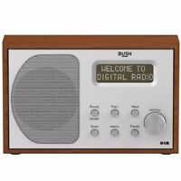 Bush Retro Style DAB FM Wooden Radio with 20 Presets Mains and Battery Operated