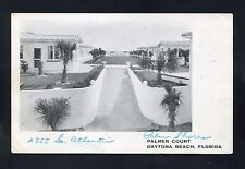 postcard roadside Palmer Court Daytona Beach Florida Volusia County motel beach