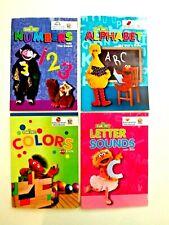 Preschool/Kindergarten Workbooks Sesame Numbers, Alphabet, Colors, Letter Sounds