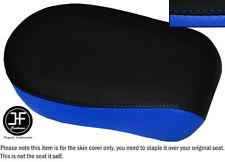 BLACK LIGHT BLUE VINYL CUSTOM FITS YAMAHA XVS 650 CLASSIC V STAR REAR SEAT COVER