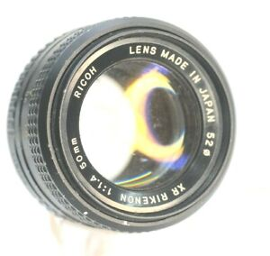 Ricoh XR Rikenon 50mm F1.4 Lens in Pentax K Mount In As Is Condition