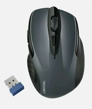 More details for tecknet usb 2.4ghz wireless 2600 dpi cordless optical pc laptop mouse m003 grey