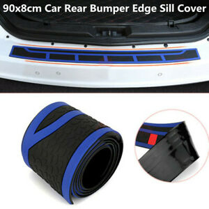 "Rubber 35"" Auto Rear Bumper Edge Sill Cover Scuff Plate Guard Scratch Resistant"