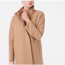 New J. Crew Women's Full Zip Wool Blend Peacoat Size 8 10 12 $238