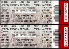 Linkin Park Tickets 2 Rare Unused Projekt Revolution Aug 11th 2007 Tampa FL