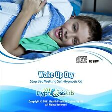 STOP BEDWETTING HYPNOSIS CD - NO ALARM - WAKE UP DRY - Boys Girls Dry Nights