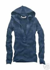 NWT$45  AEROPOSTALE Ribbed Cable Henley Sweater S Navy