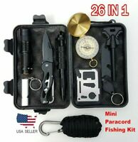 26 in 1 Outdoor Survival Kit First Aid Set Tactical SOS EDC Emergency Kit Tools