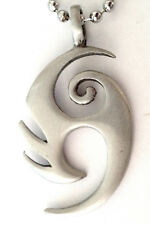 Maori Tribal Pewter Pendant Mens Boys Womens  CHAIN NECKLACE  PC0367