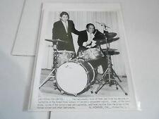#857 VINTAGE 8x10 MUSICIAN PHOTO - SONOR DRUMS - PETER AND HANK