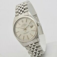 Rolex Datejust 18 kt white gold bezel year 1982 ref 16014 automatic serviced