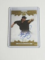 Carson Fulmer Rookie Auto White Sox 2015 Leaf Ultimate Draft Gold 9/10