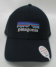 Patagonia Mens P-6 LoPro Trucker Snapback Cap/Hat 38016 Navy Blue w/ Navy Blue